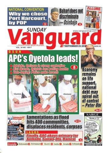 23092018 - OSUN APC's Oyetola leads!