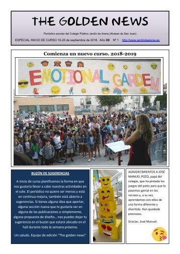 THE GOLDEN NEWS. Nº 01. 2018/2019