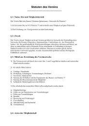 Vereinsstatuten Zentrum Quintessenz-Netzwerk für Pioniere