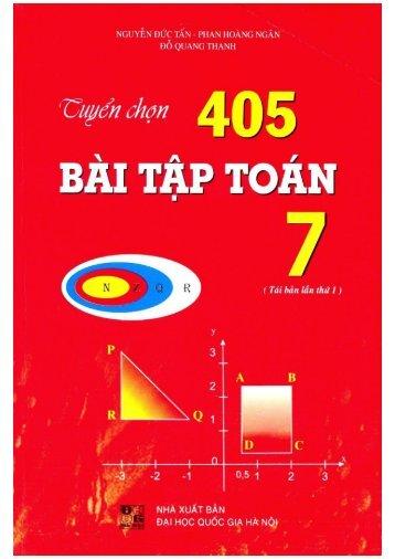 Tuyển chọn 405 bài tập toán 7