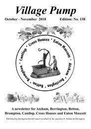 Berrington Village Pump Edition 138 (Oct - Nov 2018)