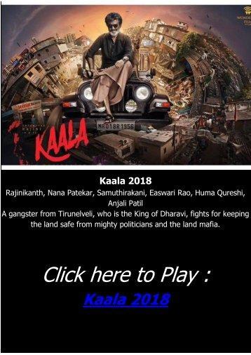 ACTION HINDIE MOVIE Kaala 2018 FULL STREAMING ONLINE FREE Bluray