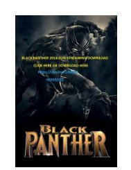 BLACK PANTHER FULL STREAMING