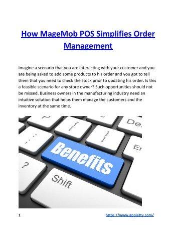 How MageMob POS Simplifies Order Management