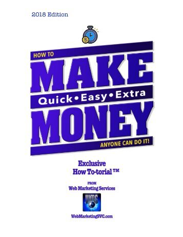 HOW TO MAKE QUICK EASY EXTRA MONEY