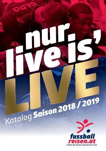 fussballreisen.at Reisekatalog Saison 2018/2019