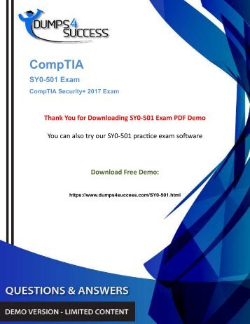 CompTIA Security SY0-501 Security Administration Exam Questions And Answers