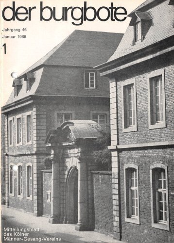 Der Burgbote 1966 (Jahrgang 46)