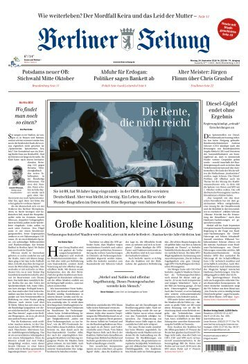 Berliner Zeitung 24.09.2018