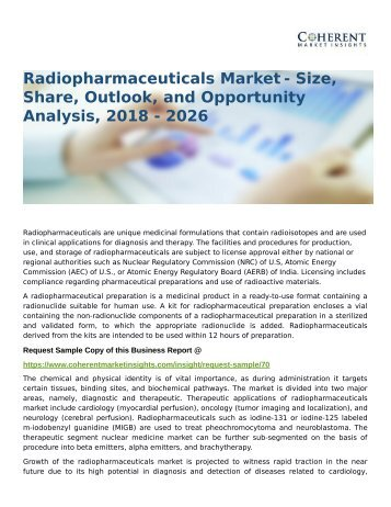 Radiopharmaceuticals Market Size, Trend and Outlook 2026