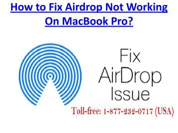 How to Fix Airdrop Not Working On MacBook Pro