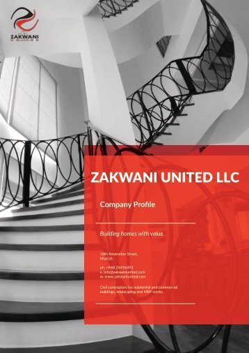 Zakwani United Company Profile