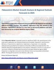 Fidaxomicin Market Growth Analysis & Regional Outlook Forecasts to 2025