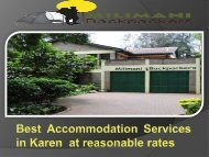 Best Accommodation Services in Karen  at reasonable rates-converted