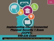 Latest Free 648-238 Exam Questions With Valid 648-238 Dumps