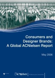 Consumers and Designer Brands: A Global Acnielsen Report