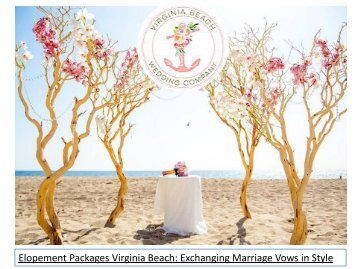 Elopement Packages Virginia Beach Exchanging Marriage Vows in Style