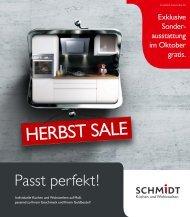 Flyer Oktober 2018 SCHMIDT Küchen Koblenz
