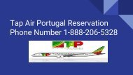 Tap Air Portugal Reservation Phone Number 1-888-206-5328