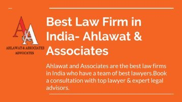 Best Law Firm in India- Ahlawat & Associates