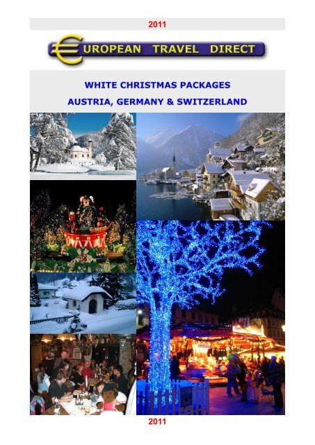 White Christmas In Germany.White Christmas Packages Austria Germany Switzerland