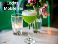 Cocktail Mobile Bar| Hire A Private Bartender