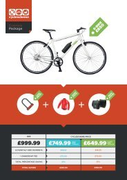 Example eBike package - eBike (£999 package)