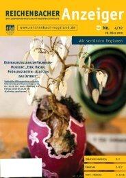 """Museum: """"Eier, Hasen, Frühlingsboten - Alles um ... - Reichenbach"""