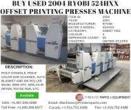 Buy Used 2004 Ryobi 524HXX Offset Printing Presses Machine