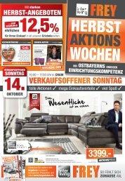 Interliving FREY - Herbst-Aktions-Wochen