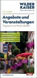 Angebote und Veranstaltungen Sommer