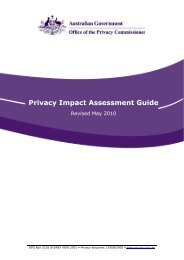 Privacy Impact Assessment Guide - Australian Privacy Commissioner