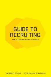 Guide to Recruiting Specialized Master's Students