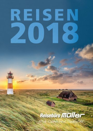 "Travel magazine ""Reisen 2018"" for ""Reisebüro Müller"""