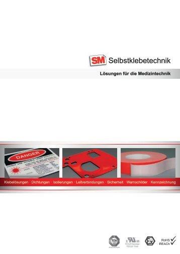 SM Selbstklebetechnik Lösungen für die Medizintechnik