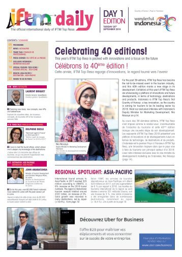 IFTM Daily 2018 - Day 1 Edition