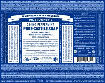 Dr. Bronner 18-in-1 Peppermint Pure-Castille Soap