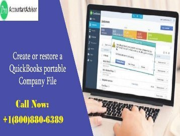 Steps to Create or restore a QuickBooks portable company file