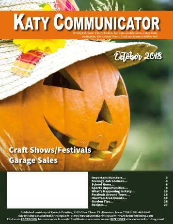 Katy Communicator October 2018