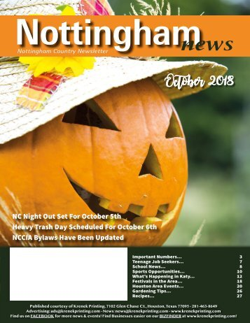 Nottingham October 2018