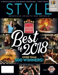 Style Roseville, Granite Bay, and Rocklin; October 2018