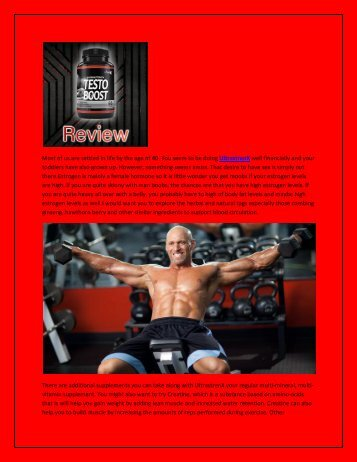 UltrastrenX Muscle Building
