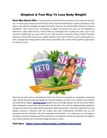 Keto Max Boost Reviews - Suppress Your Appetite & Control Food Cravings!