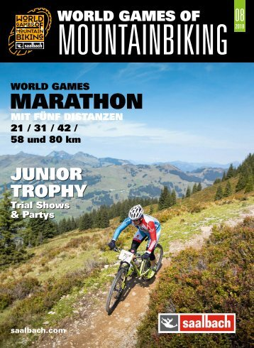 Programmguide World Games of Mountainbiking Saalbach 2018