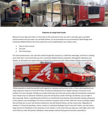 Customize Mobile Kitchens