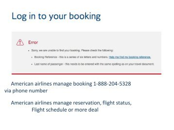#American airlines manage booking in few minut deal 1-888-204-5328