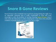 The Best Way To Snore B Gone
