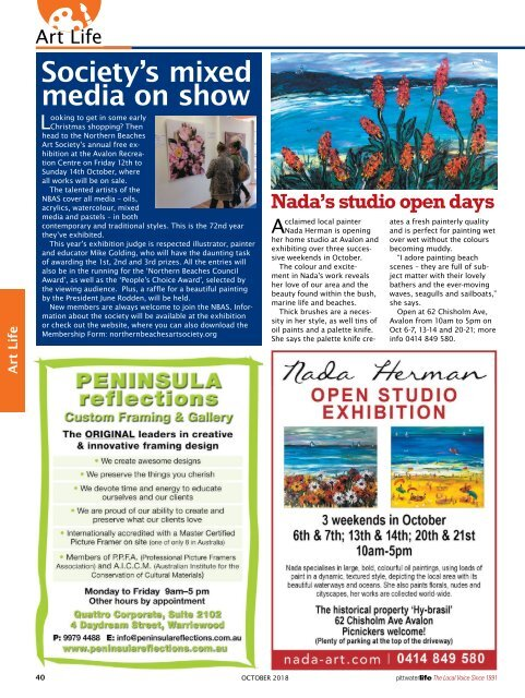 Pittwater Life October 2018 Issue