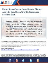 United States Current Sense Resistor Market Outlook 2025: Market Trends, Segmentation, Market Growth And Competitive Landscape