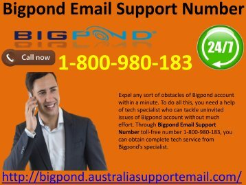 Update Bigpond Account Via Email Support Number 1-800-980-183